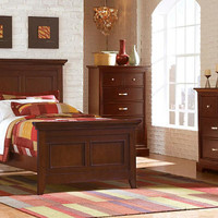 Thurlow Cherry Twin Size Panel Bed