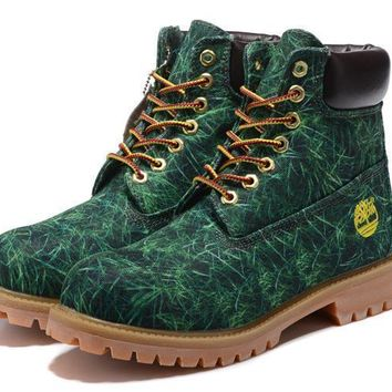 Timberland Classic jungle green grass anti-fatigue outdoor classic high boots
