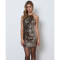 Show-Stopper Dress - Black/Gold