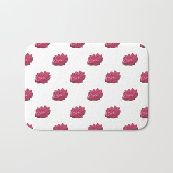Red Rose 2 Bath Mat by drawingsbylam