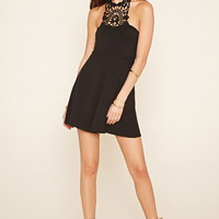 Crochet Halter A-Line Dress