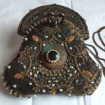 Couture Victorian purse Beaded Hollywood by HopscotchCouture