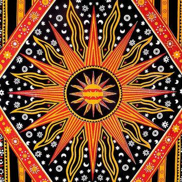 Celestial Sun, Moon Stars Planet Tapestry, Hippie Wall Hanging , Bohemian Wall Hanging, Bedspread Beach Coverlet throw Decor Beach blanket