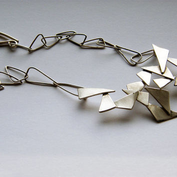 Shattered. sterling silver necklace, handcrafted sculptural necklace, contemporary jewellery