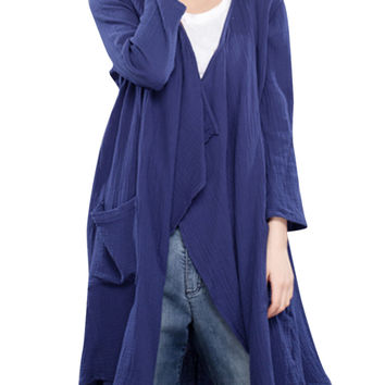 Vintage Long Sleeve Asymmetrical Cardigan