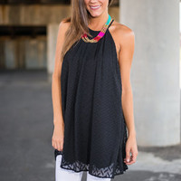 Blinded By Love Tunic, Black