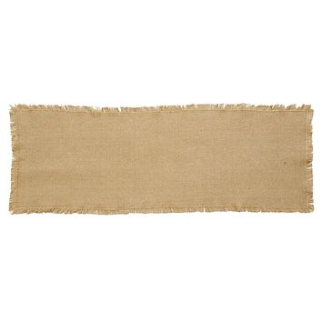 Burlap Natural Fringed Table Runners