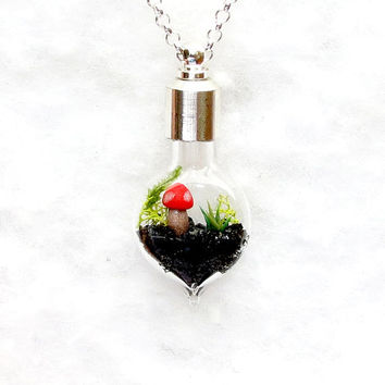 Terrarium Necklace, Lost World.  Handmade Pendant.