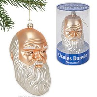 Charles Darwin Evolution Holiday Christmas Ornament