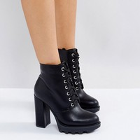 Truffle Collection Lace Up Platform Boots at asos.com