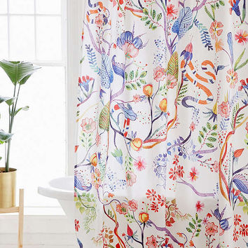 Whimsical Floral Shower Curtain | Urban Outfitters