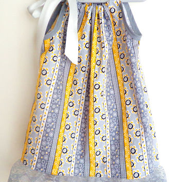 Toddler Girls Pillowcase Dress Boutique Style with Lace trim and Satin Ribbon Bow 2T-3T