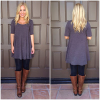 My Little Babydoll Tunic - GREY
