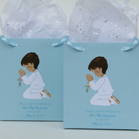 10 Boy First Communion Personalized Favor Bag-First Communion Favors