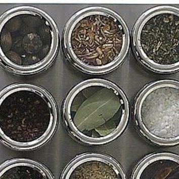 see & store magnetic spice rack by mocha | notonthehighstreet.com