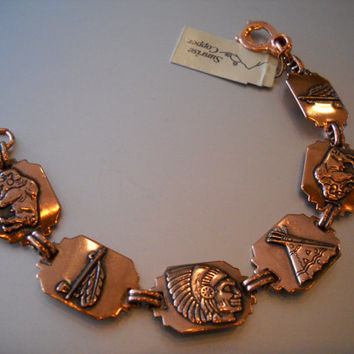 SUNRISE Copper American Indian Design Bracelet