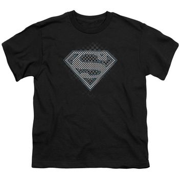 Superman - Checkerboard Short Sleeve Youth 18/1