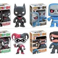 "Funko BATMAN BEYOND 3.75"" POP VINYL 4PC FIGURE SET - Batman - Nightwing - Harley Quinn - Darkseid"
