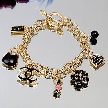 Chanel Woman Fashion Logo Flower Bracelet For Best Gift