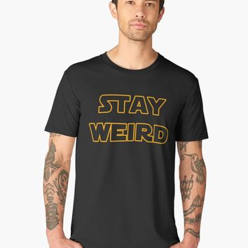 'Stay weird' Men's Premium T-Shirt by ValentinaHramov