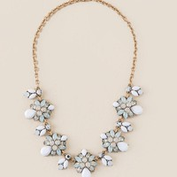 Claudia Statement Necklace in White