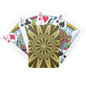 Gold Nugget Bicycle Playing Cards