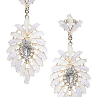 Fanned Stone & Rhinestone Earrings | Arden B.