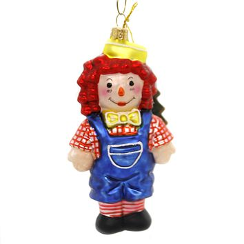 Holiday Ornaments RAGGEDY ANDY Glass Hand Painted 1395P