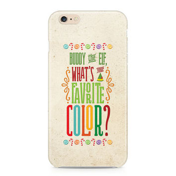 Buddy the Elf Phone Case, What's Your Favorite Color? Phone Case, Funny Holiday Christmas Phone Case, iPhone, Samsung Galaxy