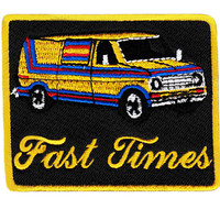 "Awesome Vintage Style 70's Patch ""Fast Times"" ""Keep on Truckin"" Custom Van Shaggin Wagon Patch 8.5cm Iron On"