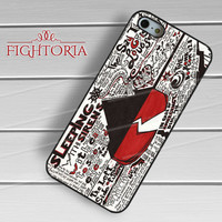 Sleeping with sirens cool quotes collage -5s4 for iPhone 6S case, iPhone 5s case, iPhone 6 case, iPhone 4S, Samsung S6 Edge