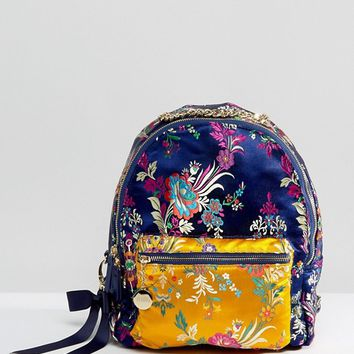 Faith Embroidered Backpack at asos.com