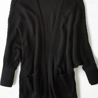 AEO Women's Ribbed Dolman Cardigan