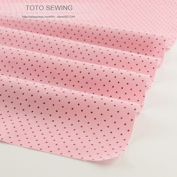 New arrivals light pink mini dot 50cmx160cm piece 100% cotton fabric tilda for baby home textile sewing quilting patchwork