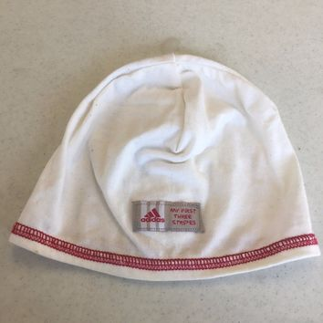 ADIDAS INFANT WHITE PULLOVER KNIT HAT SHIPPING