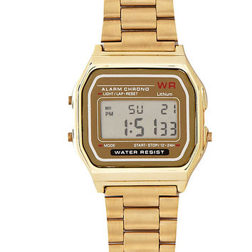 River Island Womens Gold tone digital watch