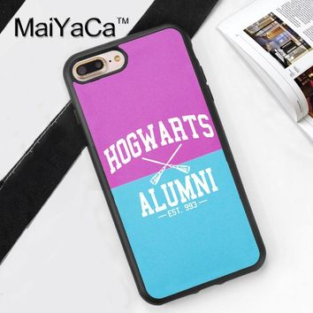 Hogwarts alumni on Pink and Blue Harry potter Soft Rubber Skin Phone Cases For iphone 6 6S 6Plus 7 7Plus 5 5S 5C SE 4S Cover