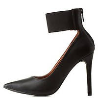 POINTED TOE PUMPS WITH ANKLE STRAP