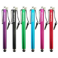 iDream365 Stylus Pen With 3.5mm Earphone Jack Lanyard for Smartphones and Tablets, Pack of 6