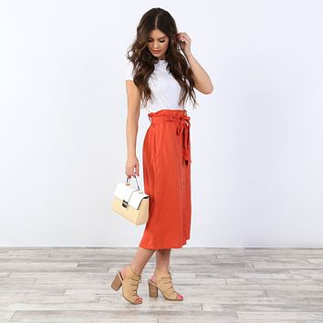 Mary Button Skirt