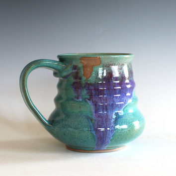 Pottery Mug, 14 oz, unique coffee mug, handmade cup, handthrown mug, stoneware mug, wheel thrown pottery mug, ceramics Sold Out