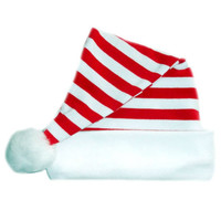 Unisex Red and White Striped Christmas Baby Santa Hat