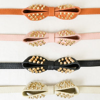 Studded Bow Belt -- 3 Colors