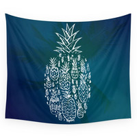 Society6 Pineapple Fields Forever Wall Tapestry