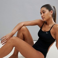 Nike Cut-Out Swimsuit In Black at asos.com