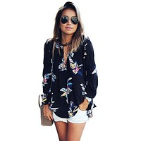 Fashion Floral Printed Loose Top