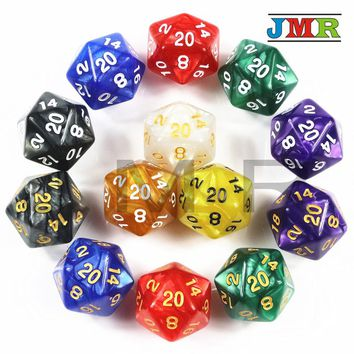 Top 1PC TRPG Pearlized Effect D20 Dice for Dungeons & Dragons 20 Sided Game Data Rich Colors Desktop Game,Playing Game DICE
