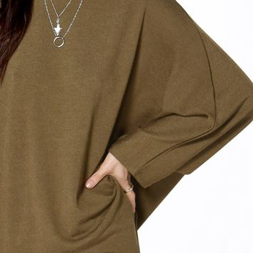 Bethany Oversized Fine Knit Cape Jumper