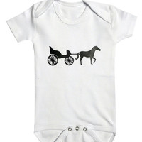 Baby in a carriage baby clothes, Newborn gift, Personalized baby gift, cute baby, bodysuit, Baby Shower, Funny Baby, Pet lover gifts