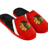 Chicago Blackhawks Men's Official NHL Swoop Logo Slide Slippers